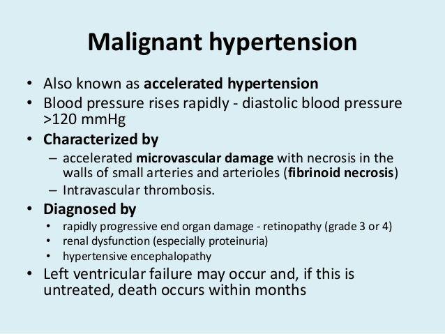 Maligna hipertenzija: simptomi, uzroci i liječenje