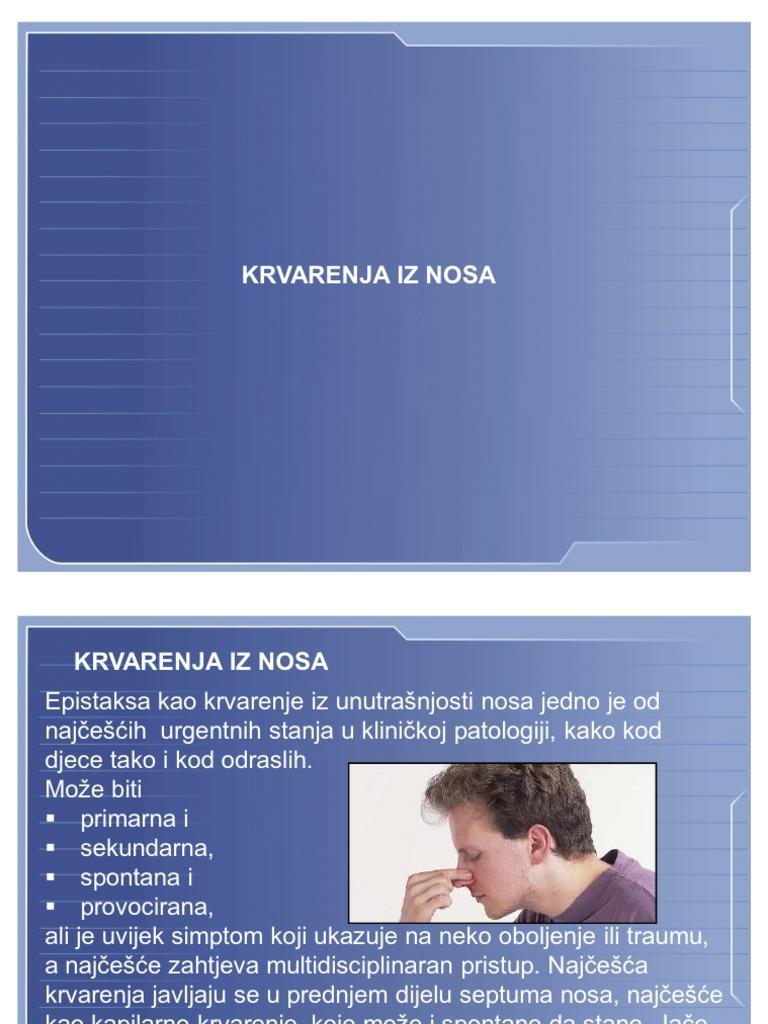 epistaksa i hipertenzija medicinski postupci liječenja hipertenzije u starijih osoba