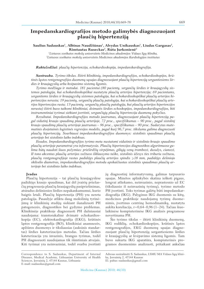 photoroentgenography hipertenzija