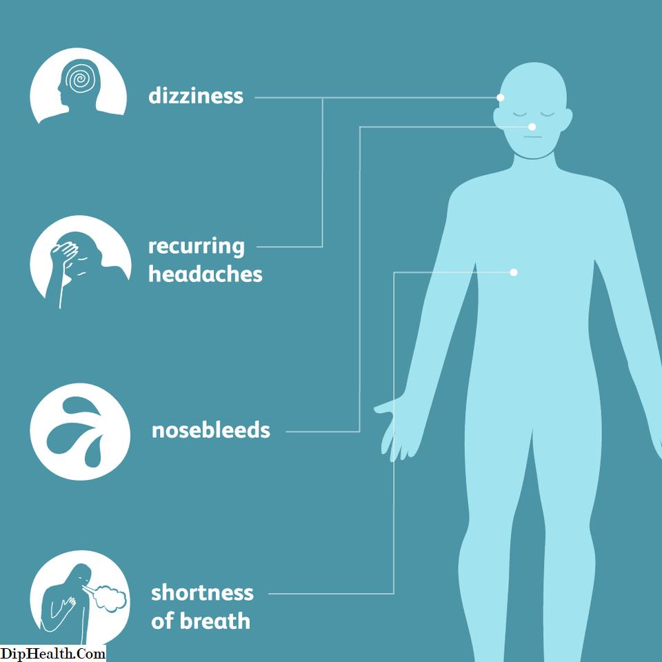 pojava simptoma hipertenzije