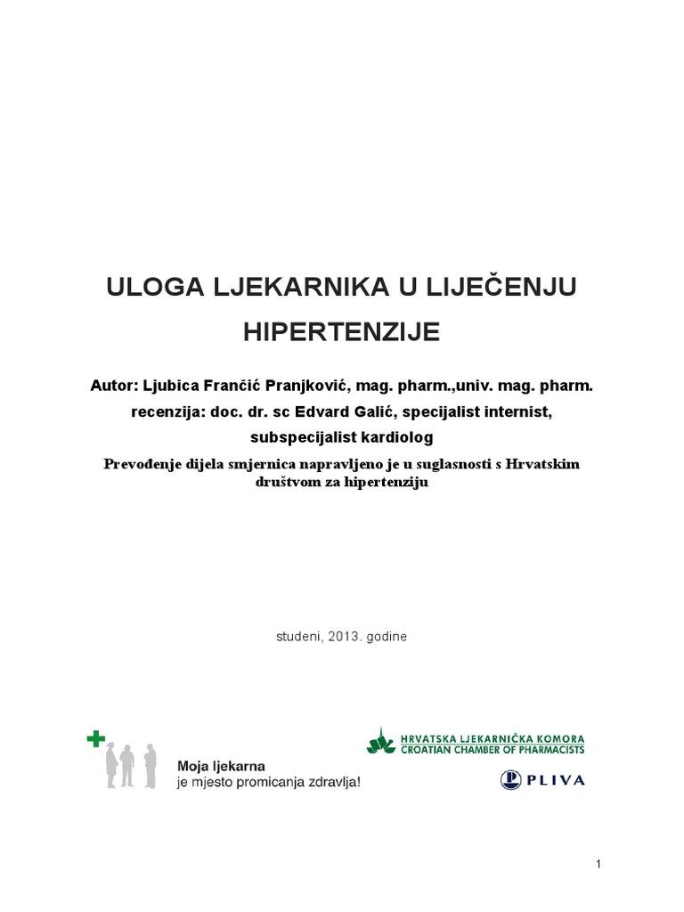 terapijske i preventivne mjere za hipertenziju liječnik hipertenzija liječenje