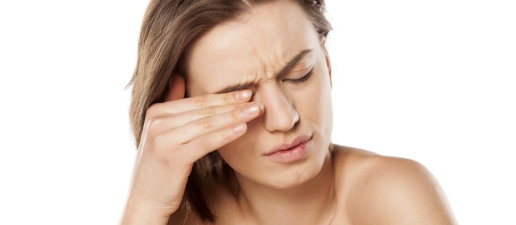 u području bol u oku i hipertenzije